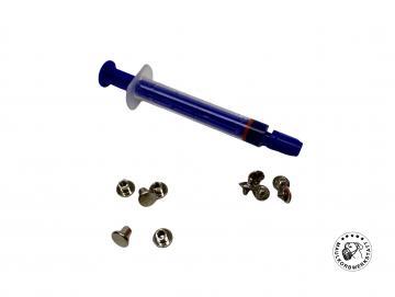Ersatzschrauben + Schraubenkleber